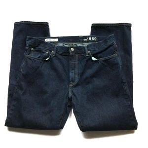 GAP 1969 Men's Straight Dark Jeans SIZE 38x32